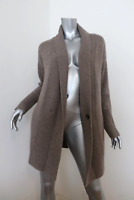 360 Cashmere Cardigan Taupe Wool-Cashmere Size Extra Small One-Button Sweater