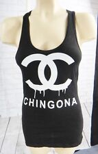 Chicano tank top LARGE dress latin spanish hip hop gangster los angeles chingona