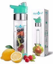 Aquafrut Bottom Loading Fruit Infuser Water Bottle (24oz, TEAL) USA Seller!