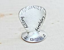 Birthday Guitar pick with Stand in Sterling Silver
