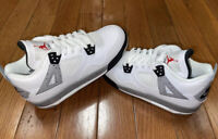 AIR JORDAN 4 RETRO OG BG white/fire red-black-tech grey 836016-192 size 6.5y