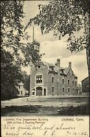 Litchfield CT Fire Dept Station c1905 Postcard