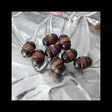 10 Oblong Burnished Copper Beads Texture & Colour choose 14 x 20 Metalised Beads