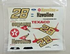 New Sealed Nascar Davey Allison #28 Havoline Thunderbird Decals