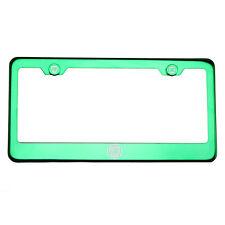 Green Chrome License Plate Frame T304 Stainless Steel Laser Engraved Fiat Logo