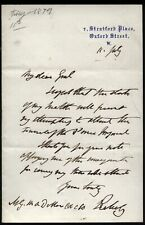 More details for 1879 baron rockeby, unable to attend funeral prince imperial to general dillon