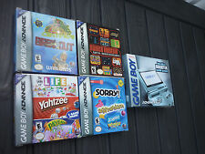 Nintendo Pearl Blue Game Boy Advance SP AGS-101 CIB Box Manual Inserts & Games