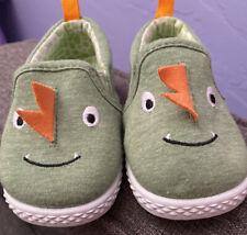 Baby Toddler Shoes Size 4 Dinosaur Dragon Slip On