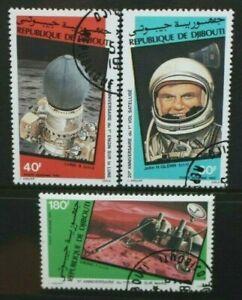 DJIBOUTI 1982 Space Anniversaries: Viking Luna. Set of 3 Fine USED/CTO SG839/841