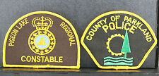 Obsolete Canada Parkland County Police & Pigeon Lake Regional Constable Patches
