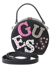 Guess Women's Lizzy Black Round Mini Satchel Handbag