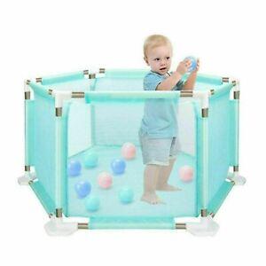 Baby Playpen 6 Sides Kids Children Play Pen Room Safety Divider Panel&Free Balls