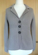 Boden Ladies Cardigan 10 Grey Chunky Knit Winter Casual BNWT Jacket