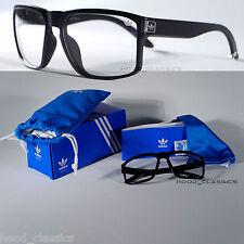 Adidas Hombres Gafas Lente Claro Marco Cuadrado Gafas de Moda Vintage Retro Geek