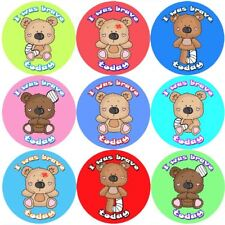 144 I was Brave - Teddy Bravery Reward Stickers Teachers, Nurse - Size 30mm