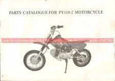 KINROAD PY110-2 POCKET MINI BIKE : Catalogue des Pièces Détachées ; Part List