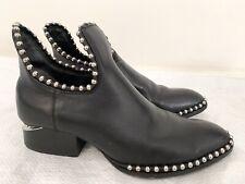 ALEXANDER WANG Gabi Studded Cutout Ankle Boots Size 36 #13199