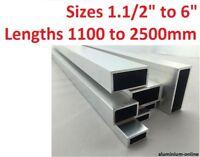 "ALUMINIUM RECTANGULAR BOX SECTION 1.1/2"" 2 2.1/2"" 3"" 4 inch 5"" 6 inch 1 - 2.5M"
