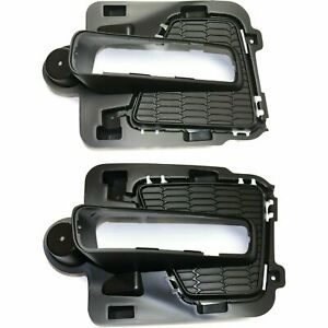 FIT FORD EXPEDITION 2015-2017 FOG LIGHT DRIVING LAMP BUMPER BEZELS INSERTS PAIR