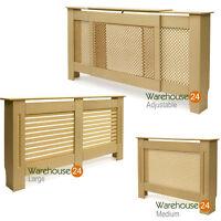 SALE! Radiator Cover Cabinet Shelf Unpainted Diamond,Circle,Slats Grill MDF Wood