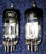 """Set of 2 """"NOS"""" 6AG5 Vintage Tested Vacuum Tubes"""
