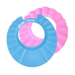 Baby Kid Bath Water Soap Head Ear Protector Adjustable Shower Visor Shield Guard