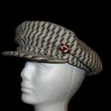 VINTAGE RUSSIAN MEN'S WOOL CAP HAT FLAT WITH BRIM & SOVIET RED STAR LENIN PIN