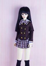 MSD doll 1/4 BJD Super Dollfie outfit dress school girl uniform clothes brown
