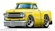 Fatcat 1958 Ford Truck Ratrod Wall Decals Stickers Graphics Man Cave Garage Deco