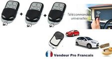 Lot  3 telecommande universelle Copieuse 433 MHZ Porte de Garage Portail Alarme