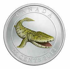 Canada 2014 Prehistoric Creatures Tiktaalik - 25-Cent Coloured Glow-in-the-Dark