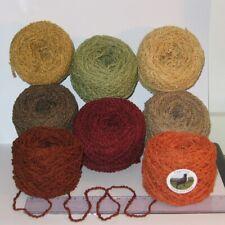 100g balls Taupe Brown /& Peach Marl boucle double knitting dk wool acrylic yarn