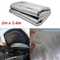 DIY 1*1.4m Car Hood Turbo Exhaust Muffler Insulation Heat Shield Mat Pad Cotton