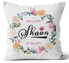 Personalised Any Text Name Cushion Floral Design Mothers Day Wedding Gift 97