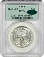 1936 Norfolk 50c PCGS/CAC MS65 - Low Mintage Issue - Old Green Label Holder