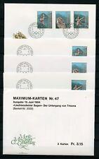 Liechtenstein no 843-845 2x FDC + 1x MK shoots 12.6.1984 - Say (134960)