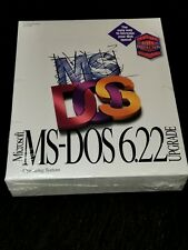 """Microsoft MS-DOS 6.22 Upgrade Operating System 3.5"""" Floppy. NEW in Box – Sealed"""