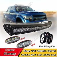 50 inch CREE single row led curved light bar off-road work light driving light
