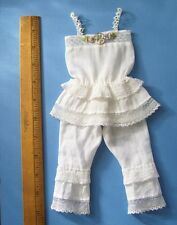 All Cotton French Style Doll Camisole & pantaloon set ~ 7.5 inch Chest