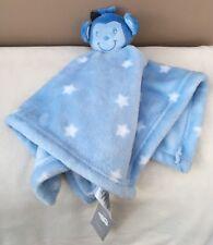 NEW Early days primark blue Monkey baby Boy comforter Blankie Stars Soft Toy