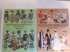 7 Paper Doll Books Uncut Lettie Lane Dolly Dingle Zeigfeld Betty Bonnet