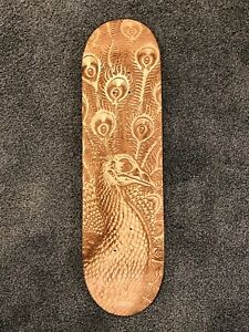 EMEK - Peacock Laser Etched Skateboard Deck - Extremely Rare
