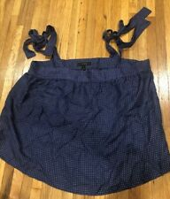J CREW TIE-SHOULDER SILK TOP BLOUSE IN POLKA DOT NAVY Size 8 NWT