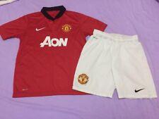 Kit de fútbol del Manchester United Camiseta + Pantalones Cortos Talla 10-12 años Nike