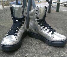 79374cdb633e Women's Doc Marten's Mix Silver Chrome Metallic Leather Snakeskin Boots ...