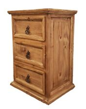 Traditional Rustic Nightstand with 3 drawer