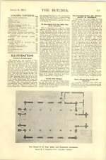 1927 Ground Floor Plan Flats 49 50 Grosvenor Square St Paul Ashby Scunthorpe