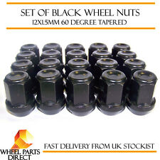 Alloy Wheel Nuts Black (20) 12x1.5 Bolts for Opel Monza 78-86