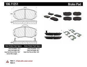 Disc Brake Pad Set Front Centric 106.11251