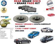für Renault Megane II coupe-cobriolet Bremsscheiben SET HINTEN+Bremsbelagsatz
